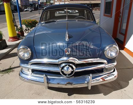 Page - September 22: Classic Blue Ford Car Parking At