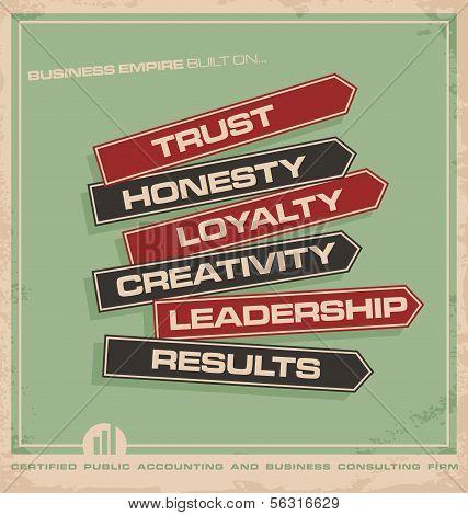 Creative business concept ad design.