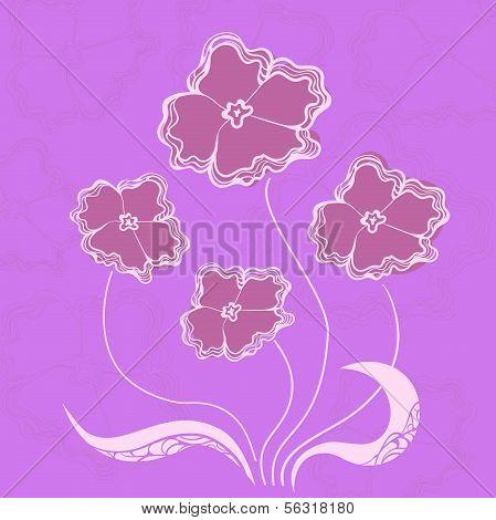 Bush flowers, vector illustration
