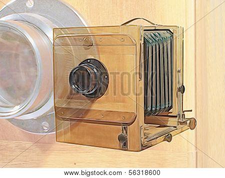 Old Photocamera.digitally Generated Image.