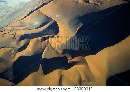 Aerial View Of Namib-naukluft Park Deser