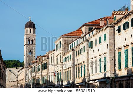 The Architecture Of The Old Town Of Dubrovnik