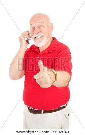 Cellphone Senior - Thumbsup