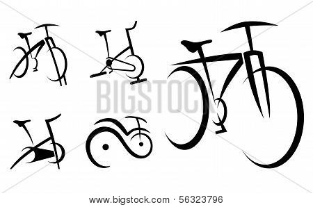 Exercise Bike, Cycle, Health Equipment Vector Illustration