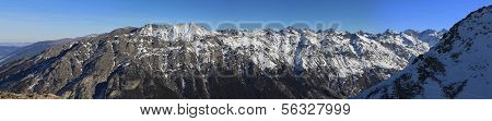 Panorama Of Winter Mountains