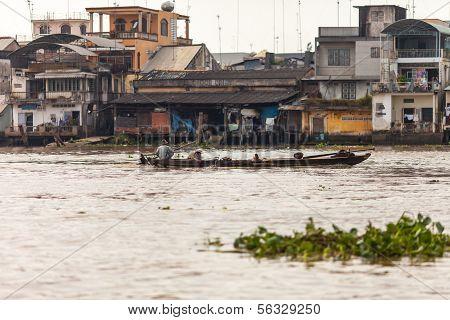 People of Mekong Delta, Cai Be, Vietnam