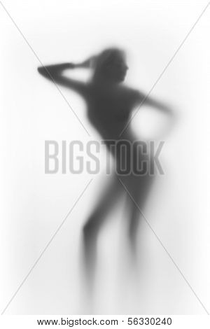 Sexy woman, diffuse silhouette