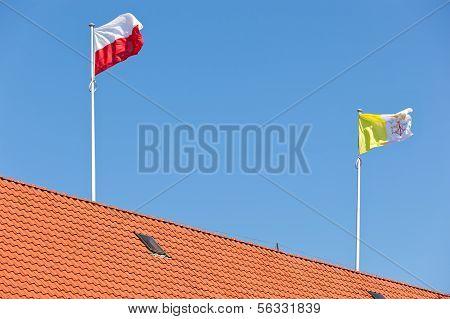 Vatican And Polish Flag