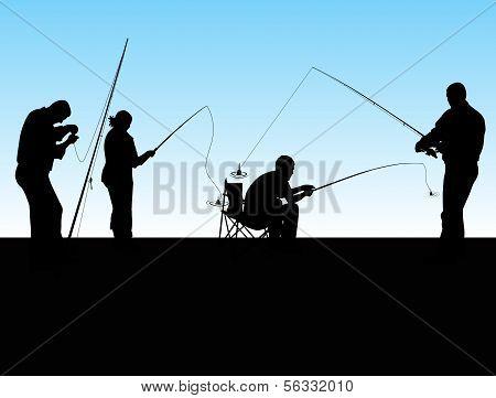 Group Of Fishermen
