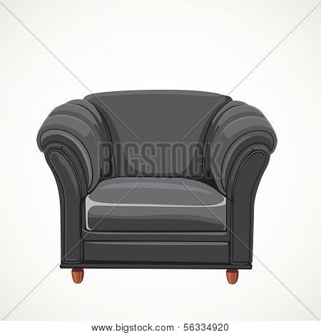 black vector isolated leather armchair