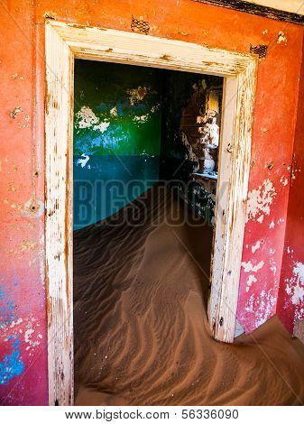 Sand In Abandoned House In Kolmanskop Ghost Town