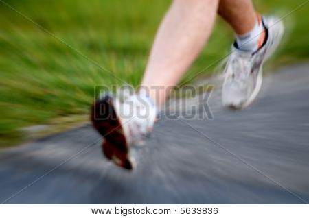 Man Running. Active Lifestyle Concept