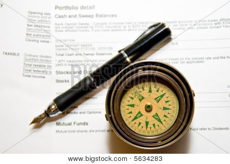 Navigating the Stock Market Fountain Pen and Compass