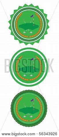 Retro Golf Badge