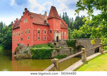 Red Water Chateau Cervena Lhota In Southern Bohemia, Czech Republic