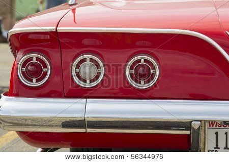 1961 Red Chevy Impala Tail Lights