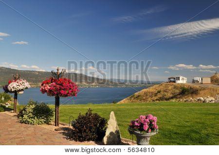 Garden in RV park by Okanagan Lake