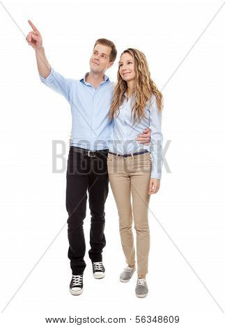 Young Romantic Couple Walking