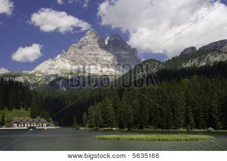 Nice View Of Misurina Lake, Italy