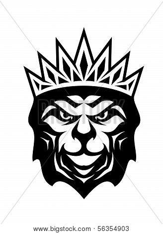 Heraldischen gekrönten Löwen