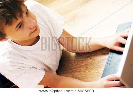 Boy With Notebook