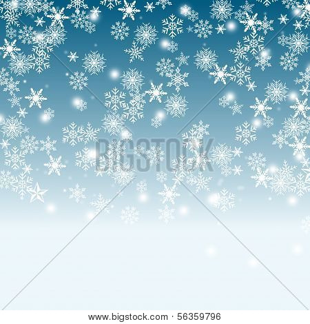 Sky And Snow Background