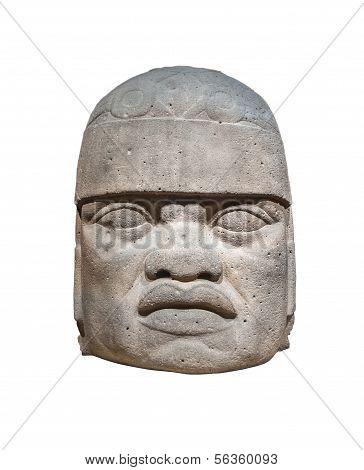 Olmec Colossal Head Isolated