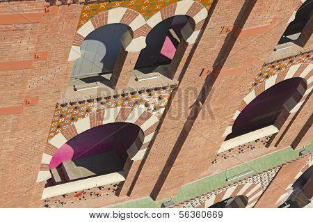 Bullring Arenas On Spain Square. Barcelona