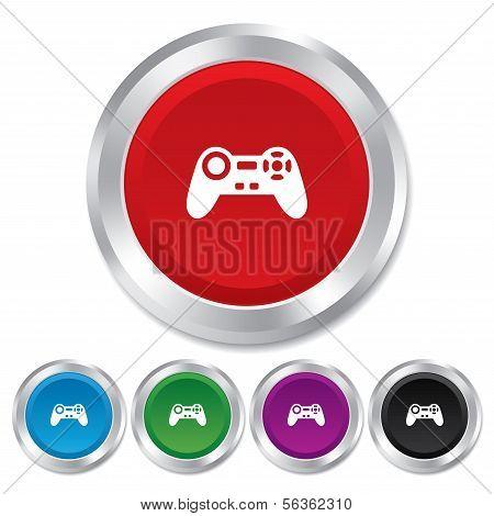 Ícone de sinal de joystick. Símbolo de videogame.
