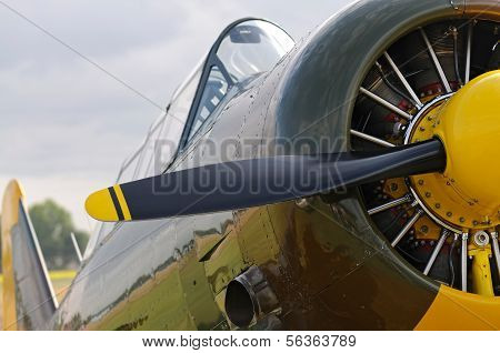 Wwii Aircraft With Propeller