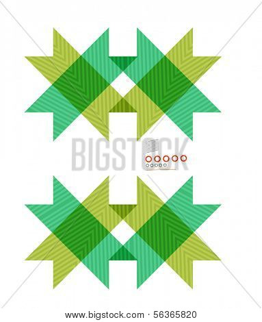 Colorful geometrical shapes abstract lines for business / technology background, presentation, web design, web layout, design elements