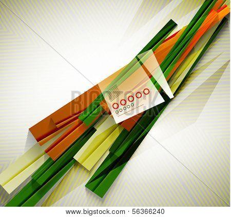 Stripes geometric shape paper template