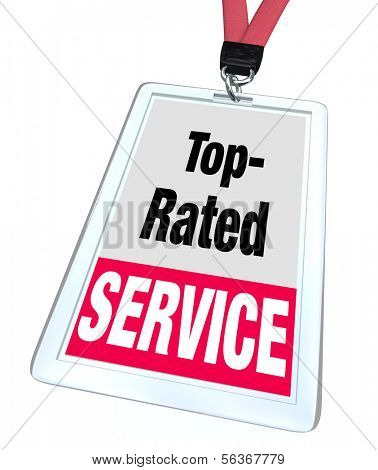 Top Rated Service Badge Customer Service Employee Staff