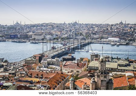 View On Istanbul And Galata Bridge