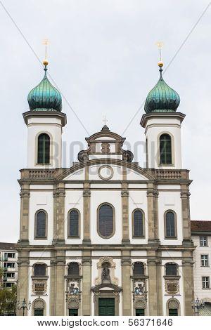 Jesuit church in Lucerne, Switzerland