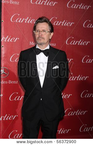 PALM SPRINGS - JAN 4:  Gary Oldman at the Palm Springs Film Festival Gala at Palm Springs Convention Center on January 4, 2014 in Palm Springs, CA