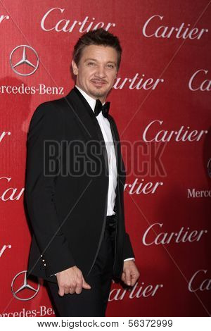 PALM SPRINGS - JAN 4:  Jeremy Renner at the Palm Springs Film Festival Gala at Palm Springs Convention Center on January 4, 2014 in Palm Springs, CA