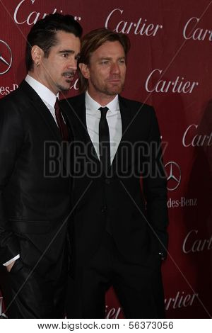 PALM SPRINGS - JAN 4:  Colin Farrell, Ewan McGregor at the Palm Springs Film Festival Gala at Palm Springs Convention Center on January 4, 2014 in Palm Springs, CA