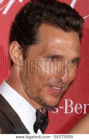 PALM SPRINGS - JAN 4:  Matthew McConaughey at the Palm Springs Film Festival Gala at Palm Springs Convention Center on January 4, 2014 in Palm Springs, CA