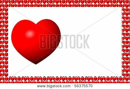 Classi Red Valentine on Tiny Heart Background