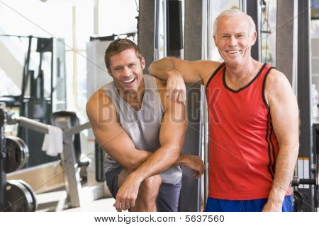 Men At The Gym Together
