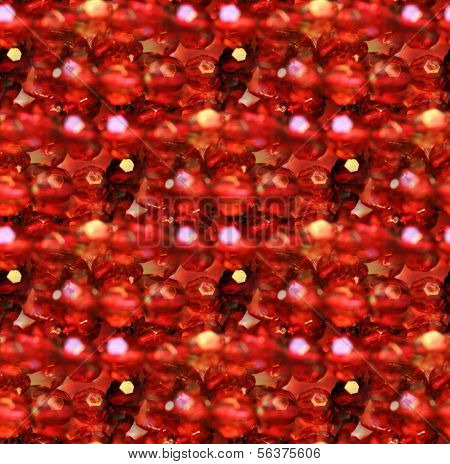 Ruby Red Glass Beads