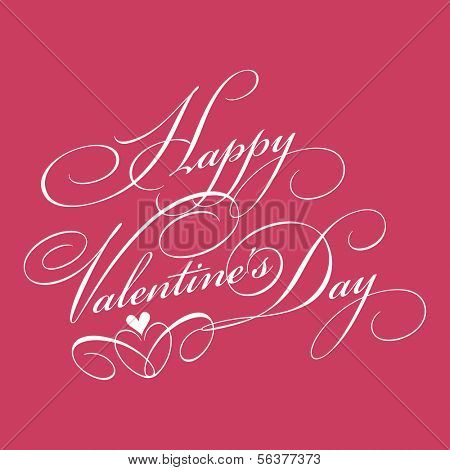 Valentine's day background with decorative text