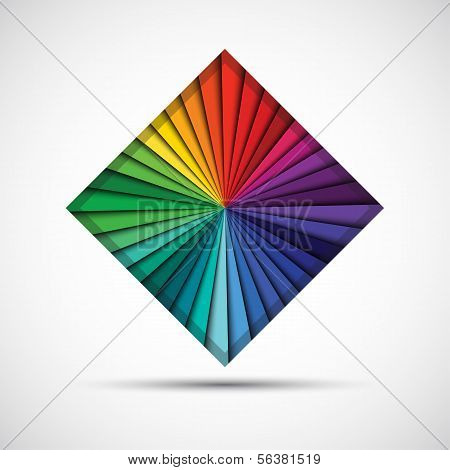 Abstract color square