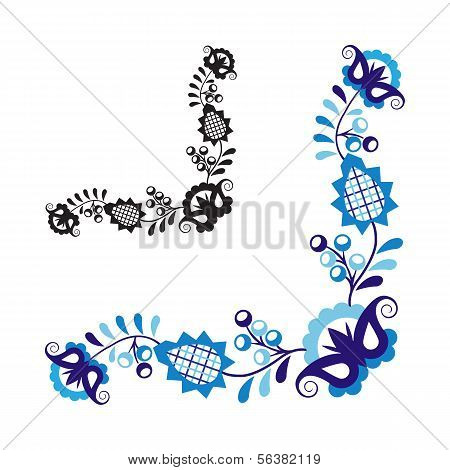 Traditional folk ornament and pattern