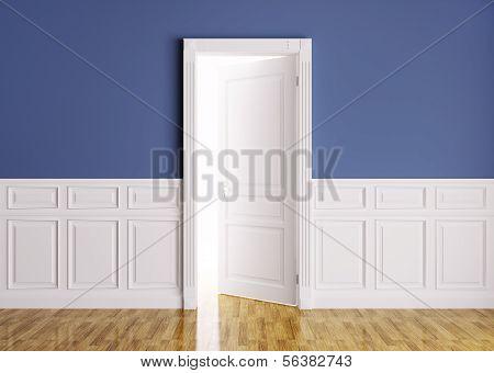 Classic Interior With Opened Door