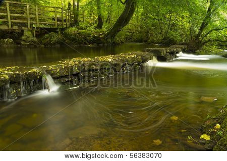Small Waterfalls, The Dingle Nature Reserve Llangefni. Long Exposure.