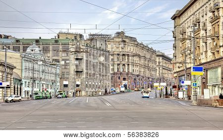 Main Street Of City Moscow