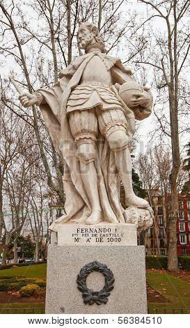 Statue Of King Ferdinand I The Great (circa 1753).  Madrid, Spain