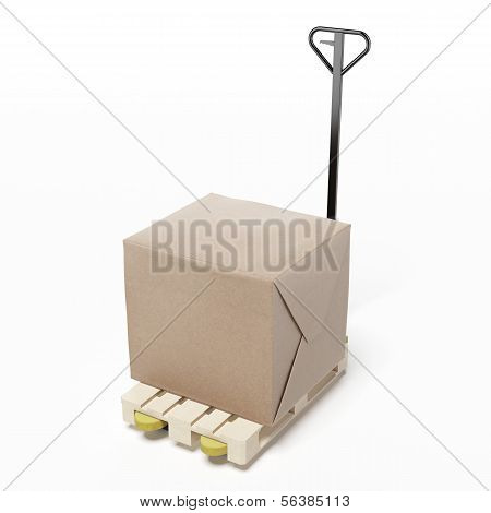 carton box on a pallet
